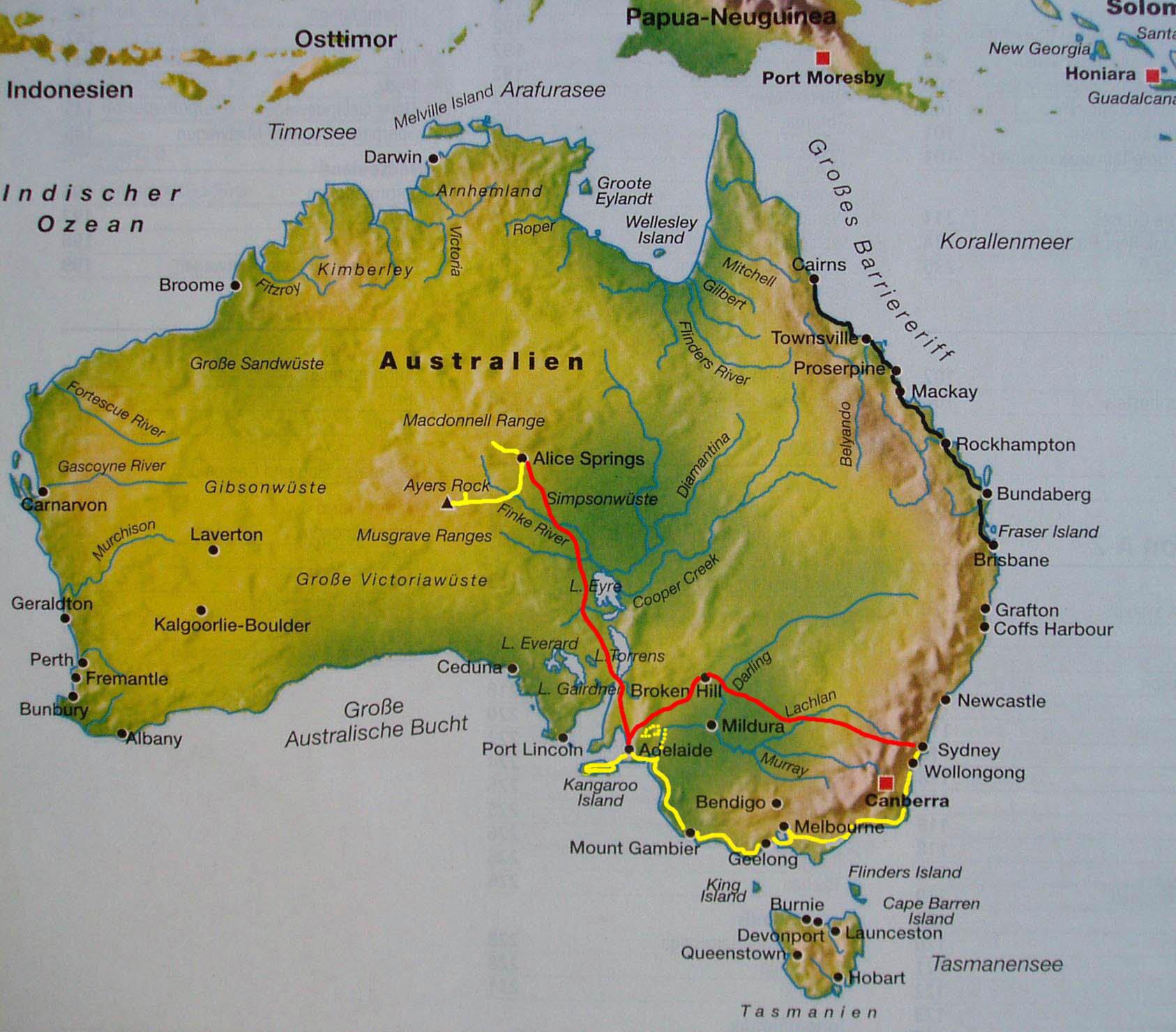 Kangaroo Island Karte